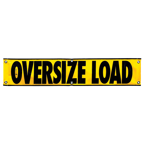 "12"" X60"" Mesh OVERSIZE LOAD Banner"