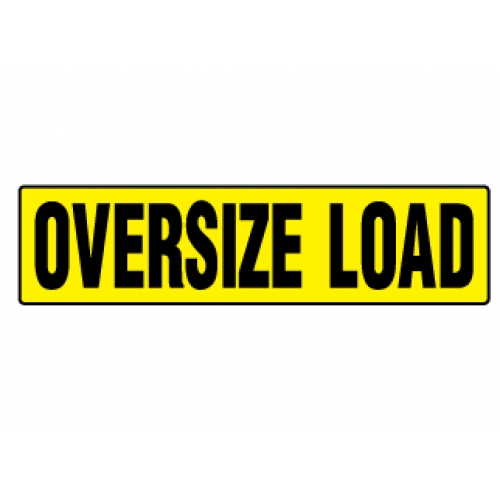 OVERSIZE LOAD Magnetic Sign